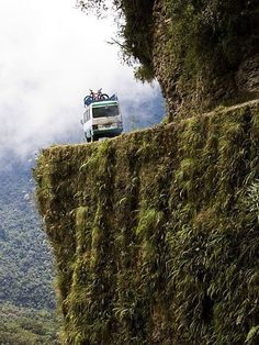 Old Yungas Road in Bolivia is considered the most dangerous road in the world, where over 200 people a year fall tragically to their death in cars, trucks, and buses.