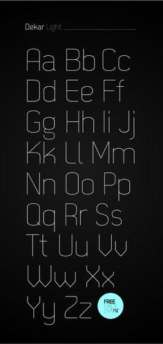 Dekar free font by Fontfabric , via Behance