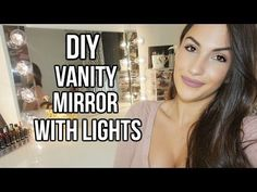 DIY Vanity Mirror with Lights for under $30! Like Vanity Girl Hollywood - YouTube