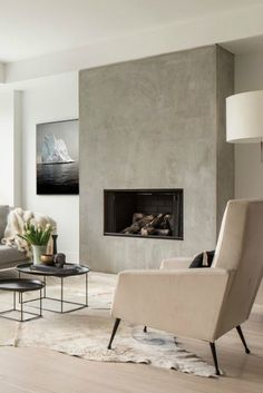 home fireplace modern - home fireplace ; home fireplace modern ; home fireplace rustic ; home fireplace ideas ; home fireplace with tv ; home fireplace stone ; home fireplace cozy ; home fireplace decor Stucco Fireplace, Home Fireplace, Fireplace Remodel, Living Room With Fireplace, Fireplace Surrounds, Fireplace Design, Fireplace Modern, Fireplace Ideas, Concrete Fireplace