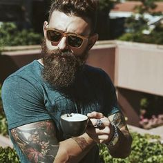 Hipster Haircut For Men Hipster Haircuts For Men, Hipster Hairstyles, Easy Hairstyles, Long Beard Styles, Hair And Beard Styles, Great Beards, Awesome Beards, Hipsters, Messy Hair Look