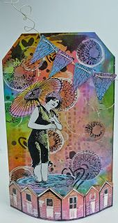 Helen's fabulous Crafty Individuals tag - just love the bright summery colours