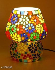 LED Lights & Lamps Multicolor Hand Decorative With Colorful Beads & Chips Glass Table Lamp  Product Type : Table Lamp  Material : Glass Cord Length:-60 inch Shade Length:-14 cm Description : It Has Set Of 1 Glass Table Lamp Country of Origin: India Sizes Available: Free Size   Catalog Rating: ★4.1 (1646)  Catalog Name: Multicolor Hand Decorative With Colorful Beads & Chips Glass Table Lamp Vol 2 CatalogID_531387 C103-SC1416 Code: 014-3791266-0321