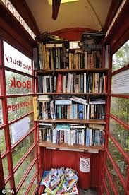 The Terrier and Lobster: Westbury Book Exchange: Red Phone Box Becomes Britain's Smallest Library Love this! The Terrier and Lobster: Westbury Book Exchange: Red Phone Box Becomes Britain's Smallest Library … Little Free Libraries, Little Library, Free Library, Library Books, Mini Library, Children's Books, Somerset Village, Mobile Library, Beautiful Library