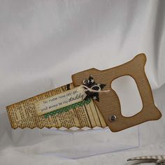 tool-shaped cards for the guys!.... there's a hammer one in the post, too.