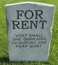 Halloween 'For Rent' tombstone prop decoration 24