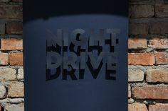Night drive -experimental poster- on Behance Night Driving, Poster On, Behance, Graphic Design, Artwork, Work Of Art, Auguste Rodin Artwork, Visual Communication