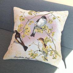 Flower Bird Throw Pillow Vintage Style Decorative Pillows 18 Inch