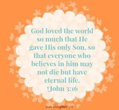 John 3:16 #scripture