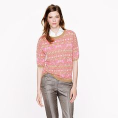 J.Crew Collection cashmere Fair Isle back-zip sweater - new spin on an old fave!