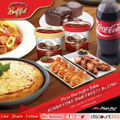 Dig in to the Pizza Hut Buffet with a Jumbo Coke Free