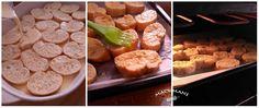 TORRIJAS DE FLAN AL HORNO A Food, Food And Drink, Pretzel Bites, Scones, Sausage, Pancakes, Bread, Pastel, Kuchen