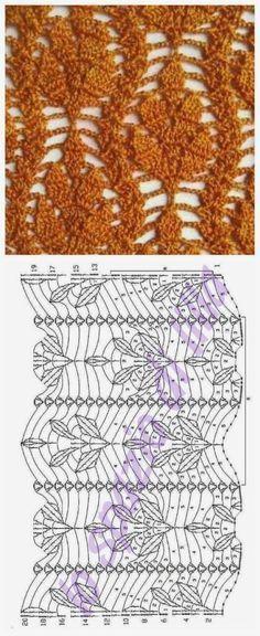 Resultado de imagem para ponto folha no croche
