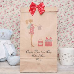 personalised 'mum to be' gift bag by red berry apple | notonthehighstreet.com