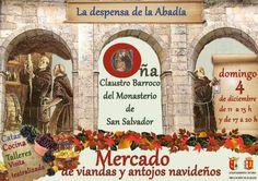 Mercado, visitas teatralizadas, catas, talleres culinarios, etc. El único día del año en el que se pueden visitar algunas dependencias del antiguo monasterio benedictino.