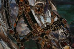 Massive Stained Glass Horse Head by StudioFind on Etsy, $12800.00