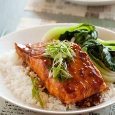 Teriyaki roasted salmon