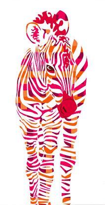 Pink Stripped Zebra