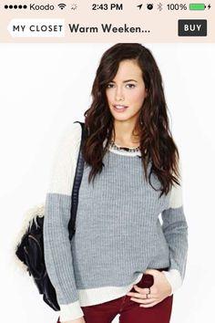 57fd12ed6f Warm Weekend Sweater Sporty Chic