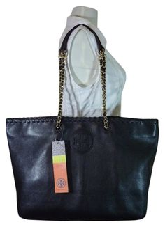 6468b5e2dc4 Marion Ew Black Leather Tote. Tradesy. Black Leather ToteBlack Tote BagTory  Burch