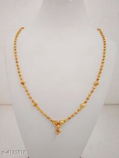 Checkout this latest Necklaces & Chains Product Name: *Women's Brass Gold Plated Necklaces & Chains* Sizes:Free Size Easy Returns Available In Case Of Any Issue   Catalog Rating: ★4.1 (425)  Catalog Name: Women's Brass Gold Plated Necklaces & Chains CatalogID_588395 C77-SC1092 Code: 122-4131818-234