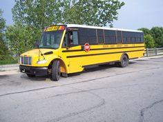 Yellow Freightliner school bus