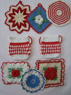 More of my vintage crochet collection...
