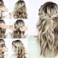 Acconciature eleganti per cerimonie fai da te #hair #blondehair #hairtutorial #diy #acconciature #capelli #acconciature cerimonie