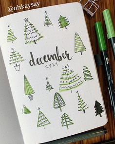 20+ December Bullet Journal Spread Ideas for Christmas
