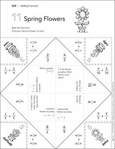 Spring Flowers (Adding Fractions): Fun-Flap Hands-On Math Manipulative