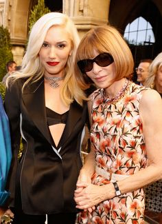 Gwen Stefani and Anna Wintour at CFDA Vogue Fashion Fund event (image via cfda.com)