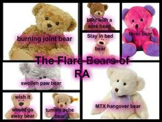 This isn't the Care Bears....that's for sure!! Juvenile Rheumatoid Arthritis