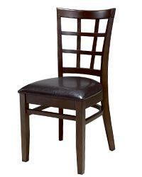 N-C6016 Grid Back Wooden Kitchen Chairs Wooden Dining Chairs, Farmhouse Dining Chairs, Kitchen Chairs, Dining Furniture, Furniture Design, Restaurant Chairs For Sale, Modern Restaurant, Restaurant Furniture, Wooden Kitchen