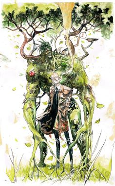 Constantine & Swamp Thing by Riley Rossmo