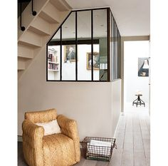 The Right Balance: Indoor Windows for Privacy and Openness — Marie Claire Maison House Windows, Windows And Doors, Steel Windows, Transom Windows, Home Living Room, Living Spaces, Style Loft, Interior Windows, Interior Decorating