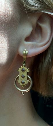 Victorian Gold Studded Earrings @ Bell and Bird