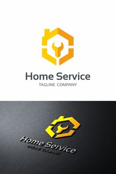 Home Service Logo: multifunctional logo that can be used in technological companies, in companies and applications for software development, construction Construction Company Names, Construction Logo Design, Construction Business, Service Logo, Service Design, Company Logos And Names, Roofing Logo, Furniture Logo, Urban Furniture