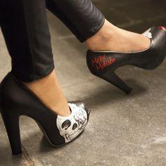 skull pumps