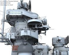 Amazing 3-D graphics of Battleship Bismarck!