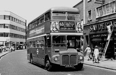 Rye Lane Peckham South East London England in 1975 London Transport, London Travel, Public Transport, London History, Local History, Routemaster, Double Decker Bus, Ford Capri, Bus Coach