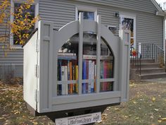 Book and comic book lovers, feast your eyes on the Library of Justice! It's a little free library made to look like the Hall of Justice! We even built a secret comic book shelf JUST FOR COMICS. Villians of illiteracy beware!