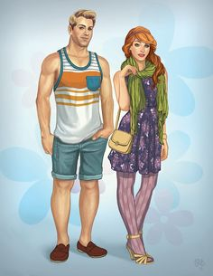 Fred and Daphne modern style by Raun Edano :) Daphne Blake, Daphne And Fred, Daphne And Velma, Cartoon Network, Comic Character, Character Design, Cartoon Characters As Humans, Scooby Doo Movie, Scooby Doo Mystery Incorporated