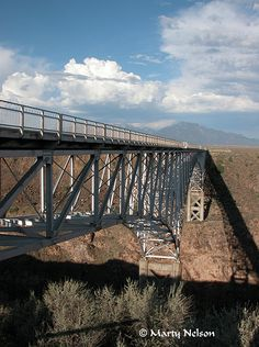 Spanning the Rio Grande - Rio Grande Gorge Bridge near Taos, New Mexico, 2006 No. 1 - © Copyright by Marty Nelson.  #taos #newmexico #nationalmonument
