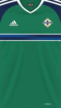 Soccer Kits, Football Kits, Sport Football, Football Jerseys, Fifa, Soccer Uniforms, Football Wallpaper, Northern Ireland, Retro
