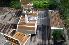iroko wood garden - Szukaj w Google Garden In The Woods, Bath Caddy, Marines, Villa, Outdoor Furniture, Table, Image, Google, Home Decor