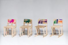 Wooden pallets transformed into vibrant designer chairs - http://www.decorationarch.net/interior-design-ideas/wooden-pallets-transformed-into-vibrant-designer-chairs.html