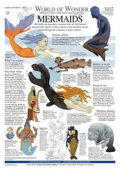 World of Wonder - World of Wonder by Laurie Triefeldt for Oct 2015 Magical Creatures, Fantasy Creatures, World Mythology, Mermaid Mythology, Myths & Monsters, Legends And Myths, Mythological Creatures, Mythological Monsters, Legendary Creature