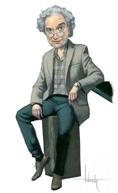 Ricardo Piglia, tuve el gran honor de ilustrar algunos de sus Diarios en el El País. #RicardoPiglia #FernandoVicente