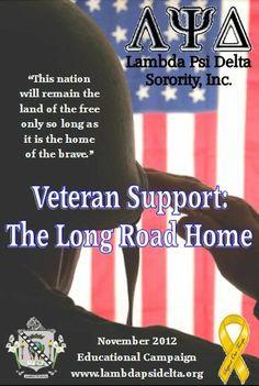 Lambda Psi Delta's Educational Campaign flyer from November 2012 #veterans