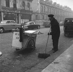 1959 - A roadsweeper at work